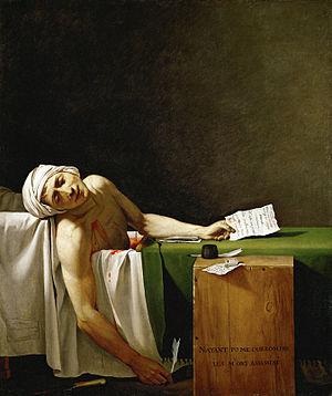 Vdekja e Maratit, pikturë e Jacques-Luis David (1793)
